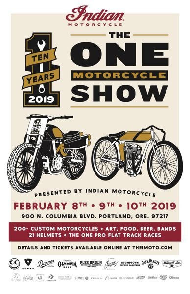COURTESY ONE MOTO SHOW - The poster for the 10th annual One Moto Show.
