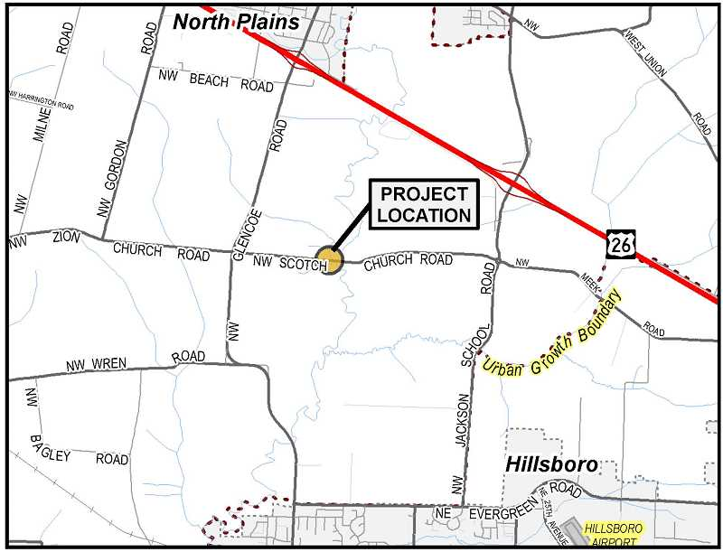 Crews plan to replace an old bridge along Northwest Scotch Church Road this year. An open house is planned for Thursday. Feb. 7 at Evergreen Middle School.