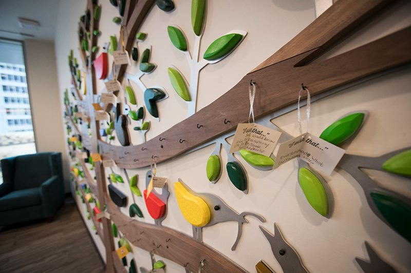 PORTLAND TRIBUNE: JAIME VALDEZ - A 'wishing tree' in the new Ronald McDonald House, where families can list the items they could use.