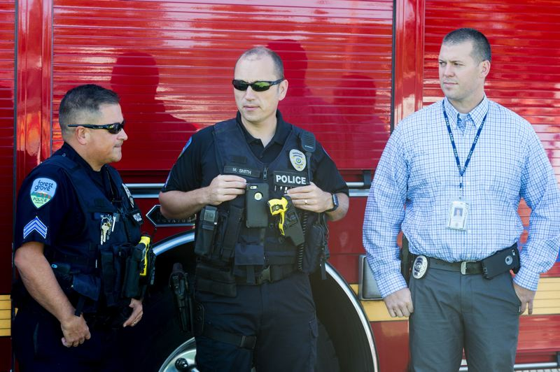 STAFF PHOTO: CHRISTOPHER OERTELL - Emergency response agencies like the Forest Grove Police Department will likely have their hands full immediately after a major disaster, so residents are encouraged to make their own plans and preparations.