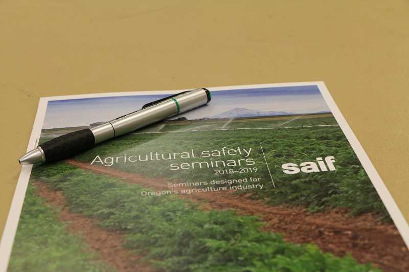 COURTESY OF SAIF - Agricultural safety seminars take aim at hazards, injuries inherent to farm work.