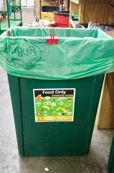 STAFF PHOTO: CHRISTOPHER KEIZUR - Through its Plate to Power program, the city of Gresham offers composting bins and support to local businesses.