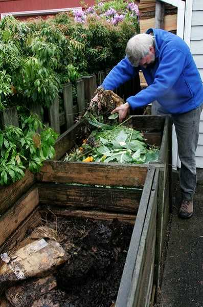 CONTRIBUTED PHOTO: METRO REGIONAL GOVERNMENT - Composting food scraps, like at this residential home, will soon be a requirement of many businesses.