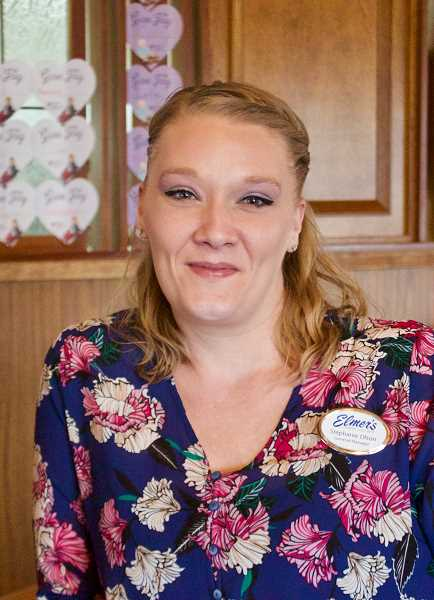 STAFF PHOTO: CHRISTOPHER KEIZUR - Elmers Restaurant in Gresham along Burnside Road is a strong supporter of composting, thanks in part to General Manager Stephanie Olson.