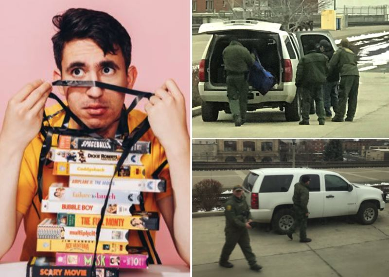 VIA MOHANAD ELSHIEKY - Mohanad Elshieky, left, posted photos of his encounter with Border Patrol agents, which subsequently went viral.