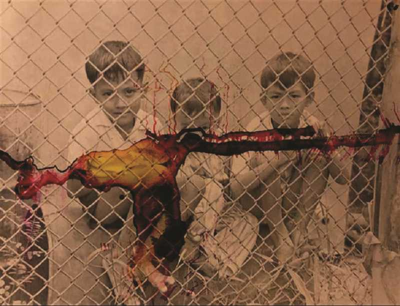 COURTESY PHOTO - Woodburn senior Aaron Sanchez's Silver Key winning portfolio included double-exposed ink stained photographs his great grandfather took during the Vietnam War.