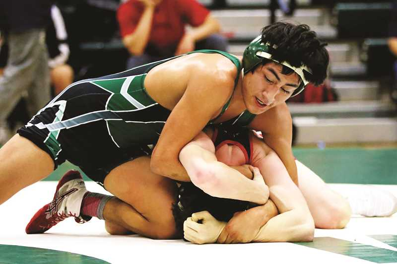 CONTRIBUTED: JO WHEAT - North Marion senior Avidan Sanchez went unbeaten last week, defeating both opponents at home on Jan. 23 and following with a first-place finish at the Mid-Valley Classic in South Albany on Saturday.