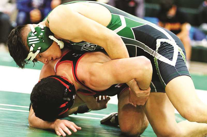 CONTRIBUTED: JO WHEAT - North Marion senior Saul Tarula split his matches against Banks and Tillamook, and finished second at the Mid-Valley Classic in South Albany on Saturday.