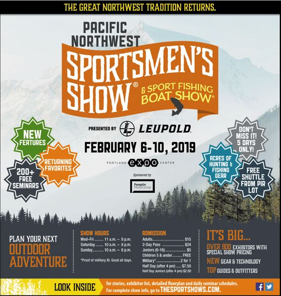 (Image is Clickable Link) Pacific NW Sportsmans Show 2019