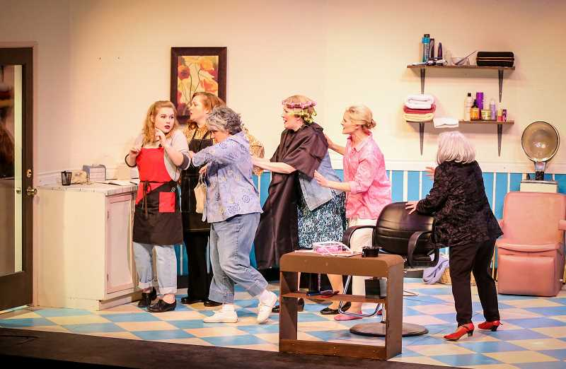 COURTESY PHOTO: TINA ARTH - 'Steel Magnolias' by Theatre in the Grove stars Robin Reece Michaels, Anne Kennedy, Patti Speight, Leslie Inmon, Emma Heesacker and Yelena King, and runs until Feb. 3.