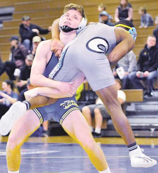 GARY ALLEN - In a dual meet victory, Newberg senior Jonah Worthington beat Century's Jack Wang by fall in three minutes and 44 seconds.