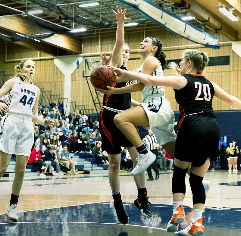 PHOTO COURTESY OF GFU -  GFU women's basketball is on a four-game win streak in conference play, the latest a 97-46 drubbing of Lewis & Clark.