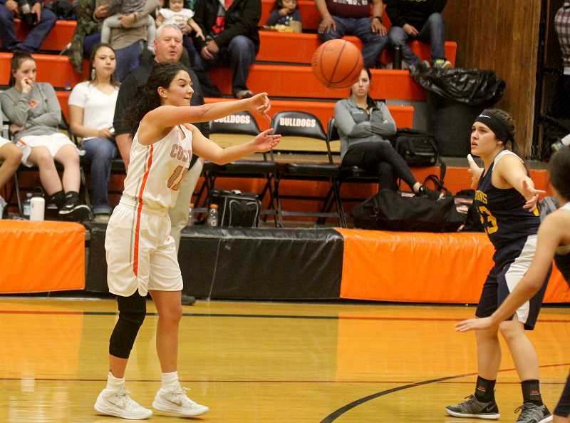 STEELE HAUGEN - Irma Retano returns from a knee injury and has a monster night with 26 points, 13 rebounds, nine steals and five assists to help the Lady Dawgs beat Sheridan 64-25 Jan. 24.