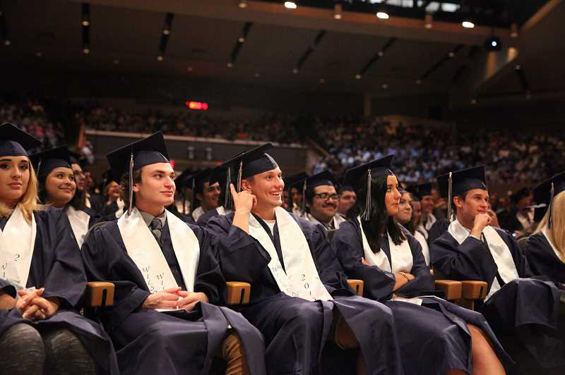 SPOKESMAN FILE PHOTO - Wilsonville High Schools graduation rate declined from 96.3 percent in 2016-17 to 94.6 percent in 2017-18, but it remains well above the state average.