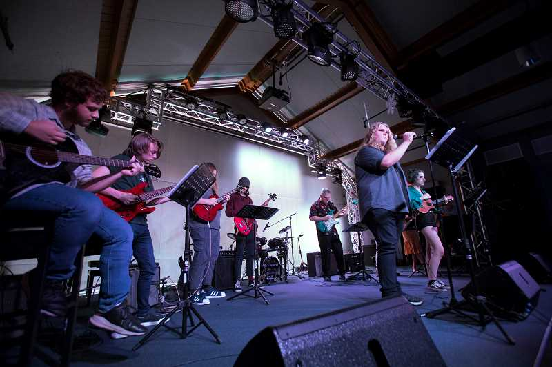 SPOKESMAN PHOTO: JAIME VALDEZ - Students from Arts and Technology High School perform at Youth Music Project in West Linn Jan. 25.