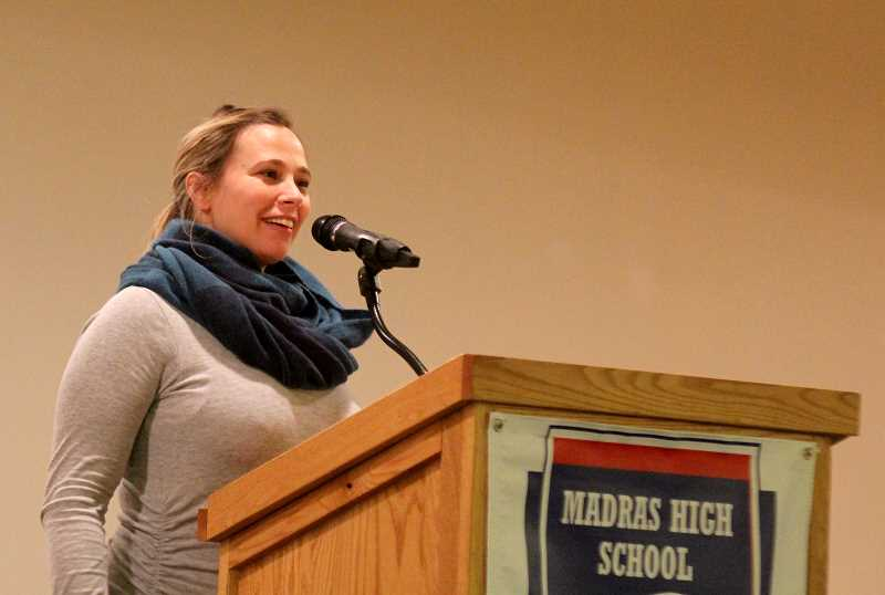 STEELE HAUGEN - All-state basketball and soccer player, Tosha Wilson Mendenhall, class of 2003, recognized the support she received from her family.