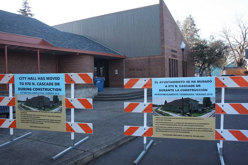 WOODBURN INDEPENDENT: JUSTIN MUCH - The $2.5 million upgrade to Woodburn City Hall is expected to take 5-to-6 months.