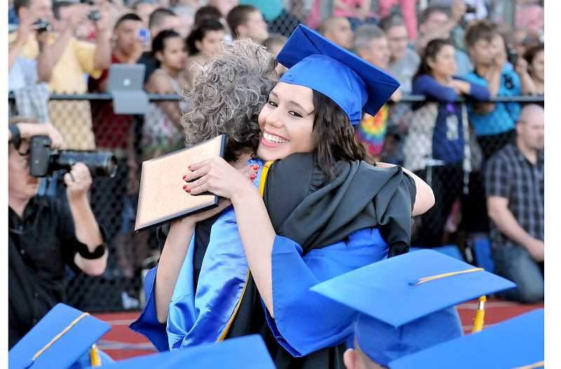 GRAPHIC FILE PHOTO - Newberg High boasted an 83.99 percent graduation rate in 2018 – more than five percent above the statewide average.