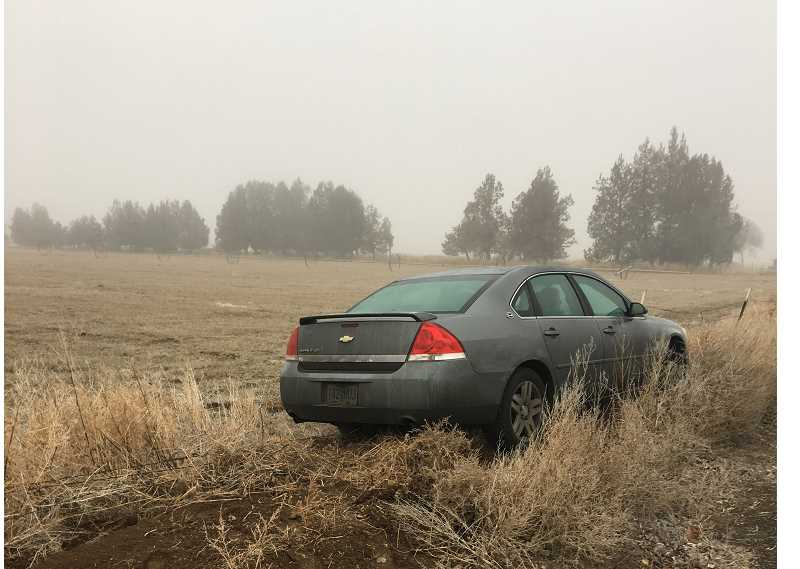 PHOTO COURTESY OF CROOK COUNTY SHERIFF'S OFFICE - Sheri Baker, of Bend, failed to negotiate a corner and side swiped another vehicle Tuesday morning.