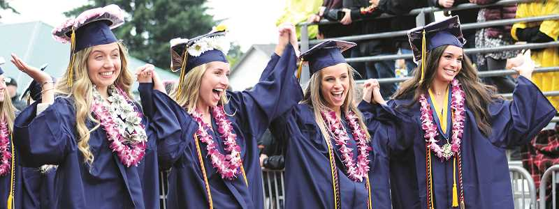 PAMPLIN FILE PHOTO: KRISTEN WOHLERS - Pictured are some of Canby's 2018 graduates.