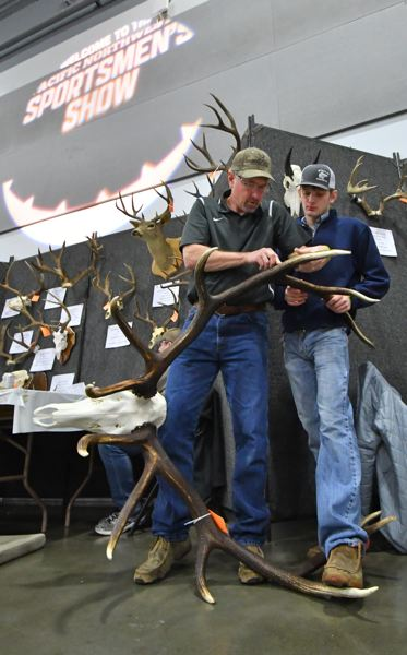 COURTESY: PACIFIC NORTHWEST SPORTSMEN'S SHOW - The Head & Horns Competition at the Pacific Northwest Sportsmen's Show compares the big racks of deer, moose, elk and more.