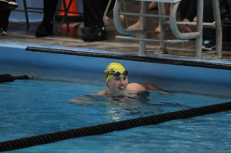SPOTLIGHT PHOTO: MILES VANCE - Senior Olive Owens is getting near the end of a successful career as a leader on the St. Helens High girls swim team.