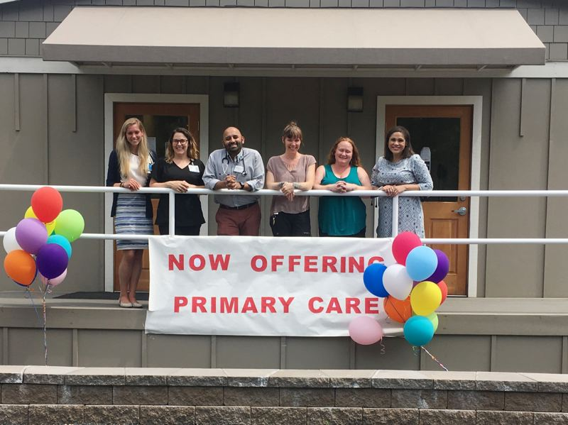 PHOTO COURTESY OF CCMH - Staff and partners at Columbia Community Mental Health in St. Helens celebrate a new collaboration between CCMH and Oregon Health & Science University. A primary care physician is now available at CCMH 20 hours a week.