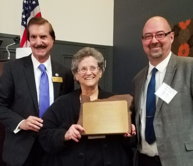 COURTESY PHOTO - Pictured from left to right are Oregon Transportation Safety Committee Chair Victor Hoffer, Lynn Chiotti, and ODOT Transportation Safety Division Administrator Troy Costales.