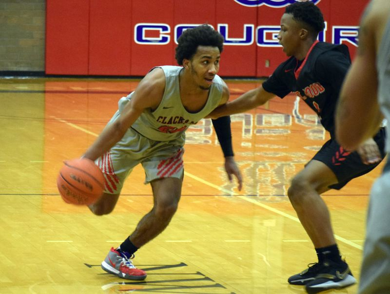 PAMPLIN MEDIA: JIM BESEDA - Clackamas Community College's Robert Ford had 25 points, 12 rebounds, and 12 assists for his fifth triple-double of the season in Wednesday's 99-88 victory over Mt. Hood Community College.