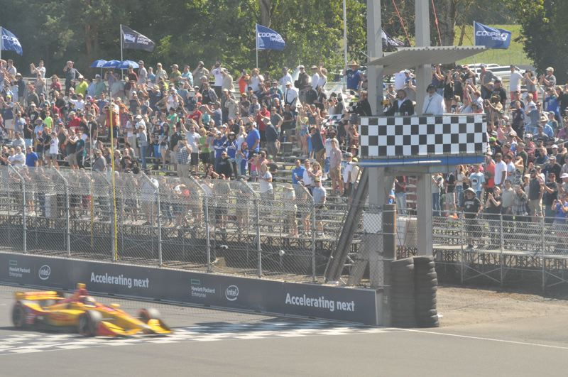 PORTLAND TRIBUNE: JEFF ZURSCHMEIDE - Takuma Sato winning the 2018 Portland IndyCar race. The 2019 event is set for Labor Day Weekend.
