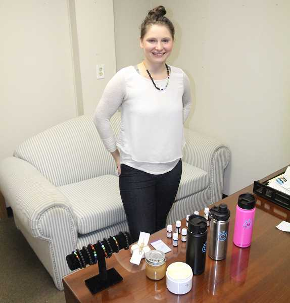 WOODBURN INDEPENDENT: JUSTIN MUCH - Woodburn native Katrina Lomas, of Keizer, started 40-sec.com, a home-based business featuring essential oils and natural healing products. She donates 30 percent of her proceeds to the American Foundation for Suicide Prevention