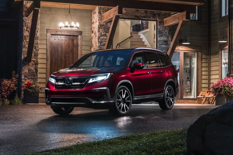 HONDA NORTH AMERICA - The 2019 Honda Pilot has been redesigned, with a revised front end and exterior trim that makes it look sharper than ever before. Power still comes from the tried-and-true 3.5-liter V6.