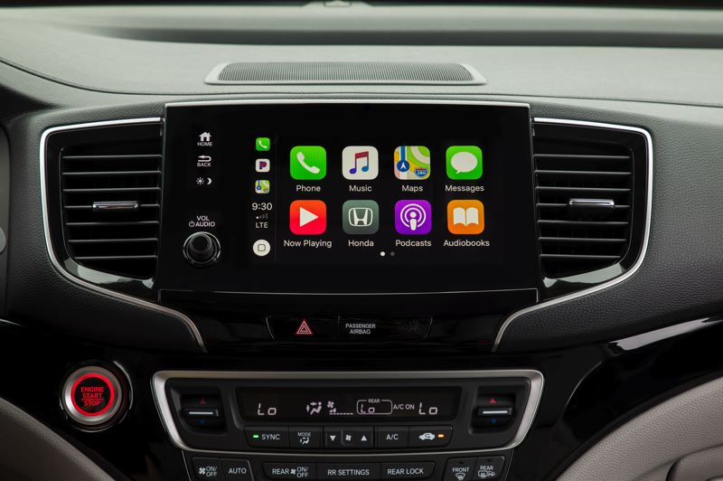HONDA NORTH AMERICA - The new infortainment touch screen in the 2019 Honda Pilot is much more intiuitive, and it has a volume knob again.