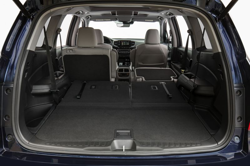 HONDA NORTH AMERICA - Cargo space in the 2019 Honda Pilot is impessive, especially with the second row or seats partly or fully folded down.
