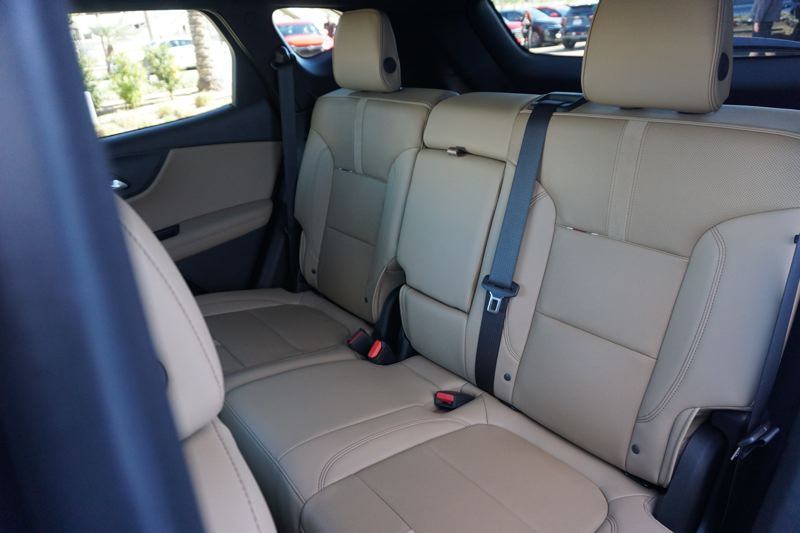 PORTLAND TRIBUNE: JEFF ZURSCHMEIDE - Having only two rows of seats in a mid-size SUV means plenty of room for all passenger, as the 2019 Chevy Blazer shows.