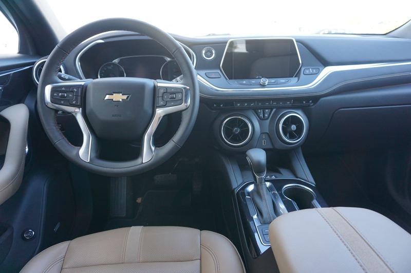 PORTLAND TRIBUNE: JEFF ZURSCHMEIDE - The interior of the 2019 Chevy Blazer is roomy and comfortable, and can be ordered with practically every available automotive feature.
