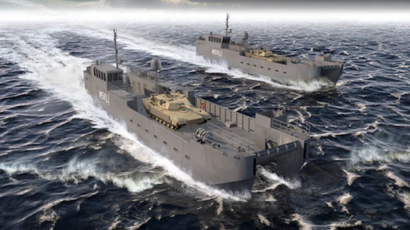 COURTESY: VIGOR INDUSTRIAL - Vigor chose Vancouver, Washington to build the Army's new MSV(L) landing craft, and will move jobs there from Ballard and Clackamas.
