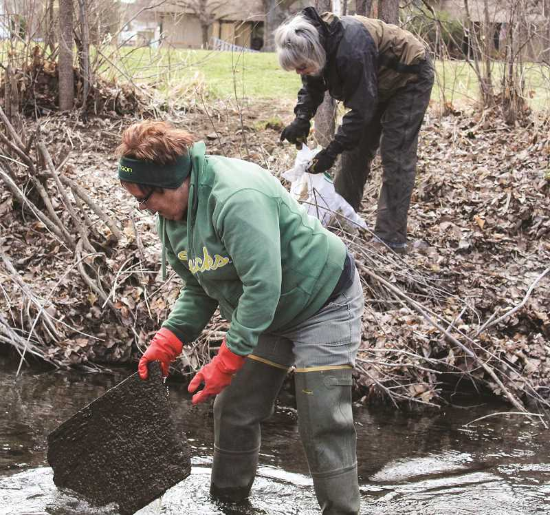 CENTRAL OREGONIAN - Volunteers helped pick up about 10 cubic yards of trash along Ochoco Creek last year.