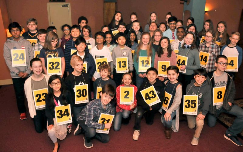 More than 50 students compete in the 2018 Pamplin Media Group's Regional Spelling Bee.