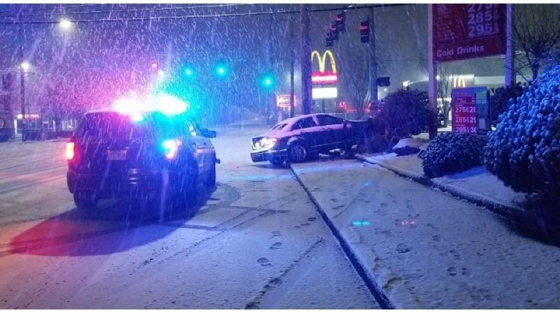 KOIN 6 NEWS - Police said snow and ice contributed to this overnight crash near Northeast 122nd and Halsey.