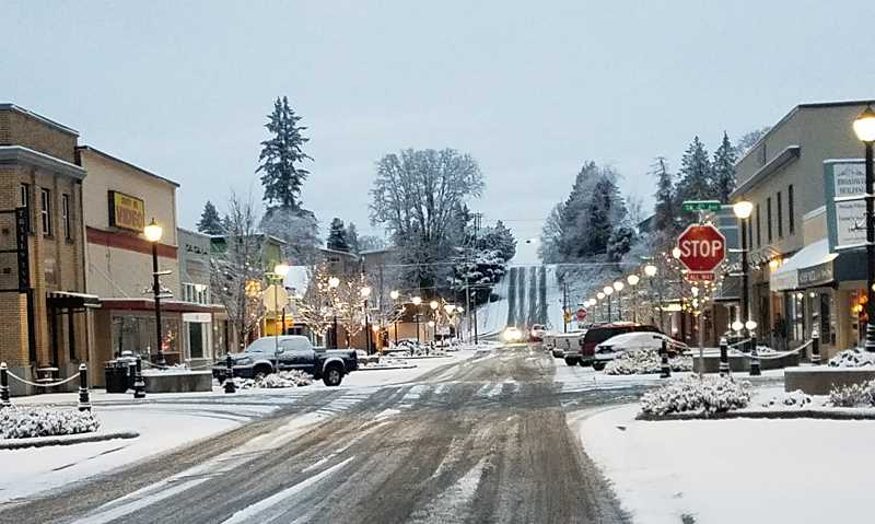 CONTRIBUTED PHOTO: MELANIE WAGNER - Winter weather can be seen in Estacada today, Feb. 5.