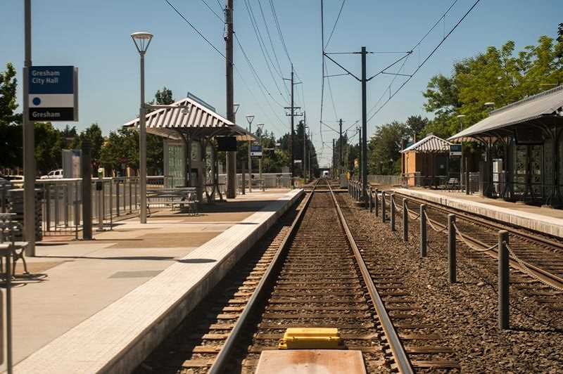OUTLOOK FILE PHOTO - This is the Gresham MAX light rail station, where Aaron Wagner-Sturdy was hit and killed in 2003 while riding his bicycle.