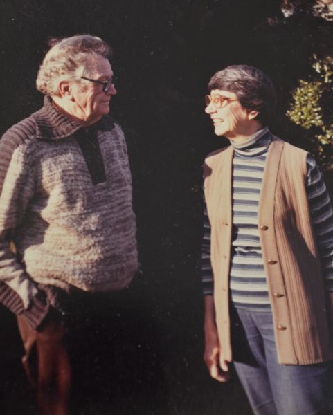 SUBMITTED PHOTO - Monica Robertson (right) and her late husband Ward.