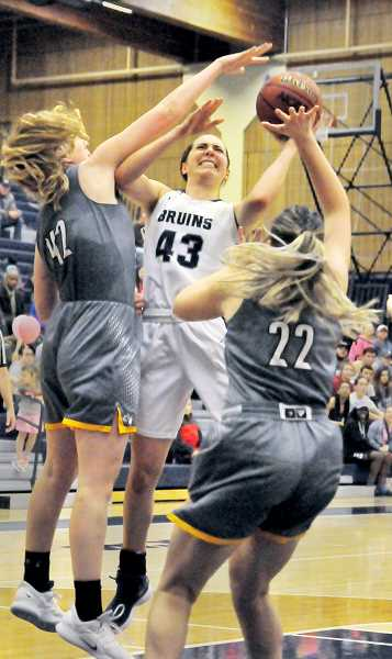 GARY ALLEN - Junior forward Emily Holder filled up the stat sheet against the Lutes with seven points, four rebounds, two assists, three steals and five blocks.
