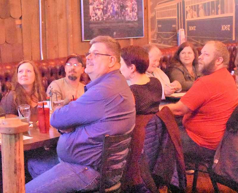 ESTACADA NEWS PHOTO: EMILY LINDSTRAND - Attendees of The Cazadero's trivia night prepare to answer questions.