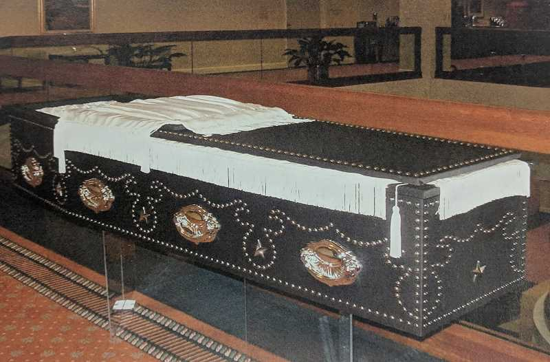 CONTRIBUTED PHOTO: BATESVILLE CASKET COMPANY OF INDIANA - A replica of President President Abraham Lincolns coffin will soon be on display at Estacada Funeral Chapel. The replica was created by the Batesville Casket Company of Indiana.