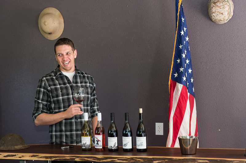STAFF PHOTO: CHRISTOPHER OERTELL - Dauntless Wine Cømpany used to pour wine at ADEA without a space to call their own. The new tasting room is expected in April 2019.