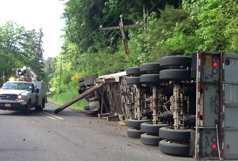 COURTESY MULTNOMAH COUNTY - One of many crashes over the years on the Multnomah County portion of Cornelius Pass Road.