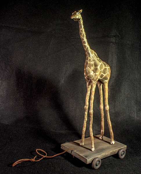 CONTRIBUTED  - Cole Eagless Giraffe Toy won a gold key in the mixed media category.