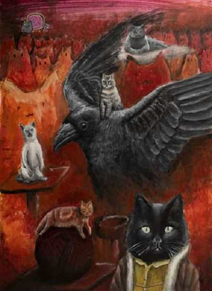 CONTRIBUTED  - Lucas Rusncacs acrylic painting Cats won a gold key.